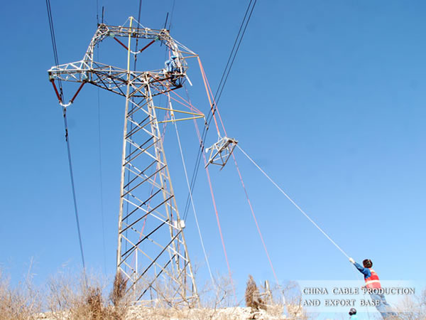 Overhead line of 500 kv pingdingshan coal power plant to Zhengzhou,China